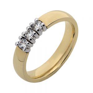 ab serie ring 3x0.10ct