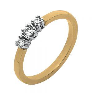 Moderne ring van geelgoud