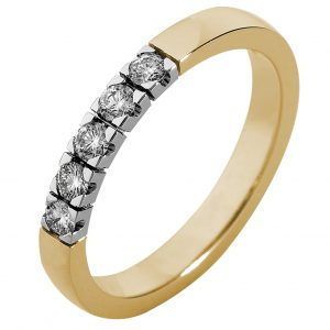 Witgouden handgemaakte ring