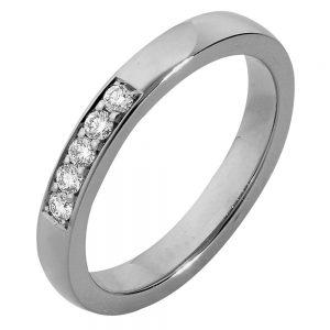 Sierlijke ring van witgoud
