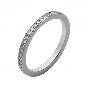 Smalle ring met diamanten
