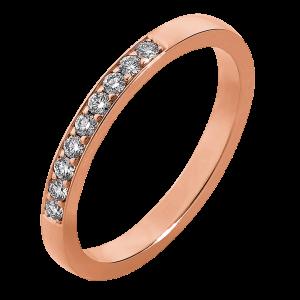 Sierlijke ring van roségoud
